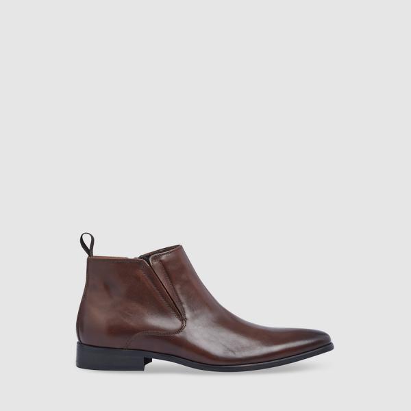 Tarocash Marten Zip Boot Chocolate 11