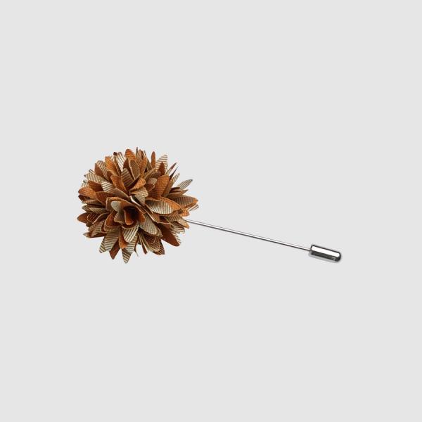 Tarocash Medley Flower Lapel Pin Bronze 1