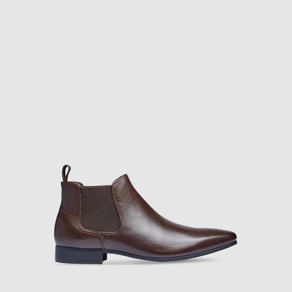 Tarocash New Acton Gusset Boot Chocolate 12