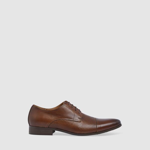 Tarocash Pepe Textured Dress Shoe Chocolate 9