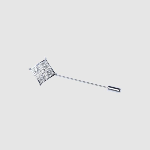 Tarocash Saddler Lapel Pin Silver 1