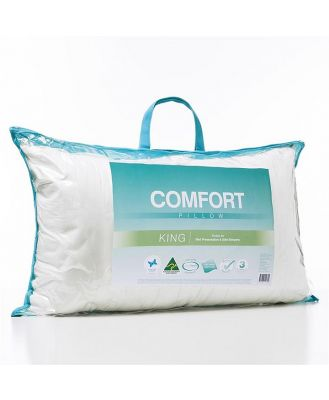 Adairs Comfort Comfort King Pillow  - White