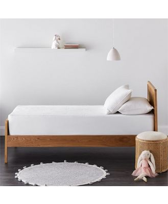 Adairs Kids Kids Bamboo Waterproof Protector Cot - White