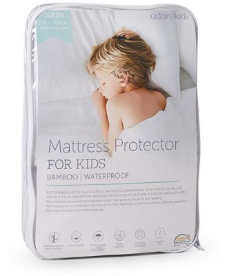 Adairs Kids Kids Bamboo Waterproof Protector SB - White