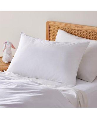 Adairs Kids Pillow Collection Medium Profile - White