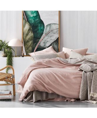 Home Republic Vintage Washed Bedlinen Queen Nude Pink Quilt Cover - Nudepink By Adairs