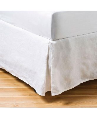 Home Republic Vintage Washed Valance  - White By Adairs
