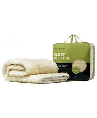 MiniJumbuk Sleep Restful Wool Mattress Topper Double - White By Adairs