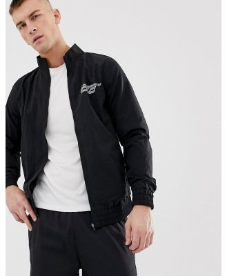 ASOS 4505 woven track jacket with reflective print - Black
