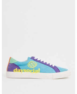 ASOS Day Social sandshoes in colour-block-Multi
