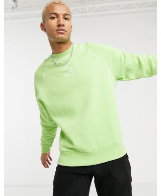 ASOS Daysocial oversized heavyweight sweatshirt with embroidered logo-Green