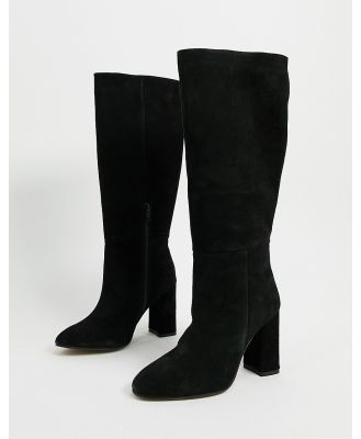 ASOS DESIGN Comet suede pull on boots in black