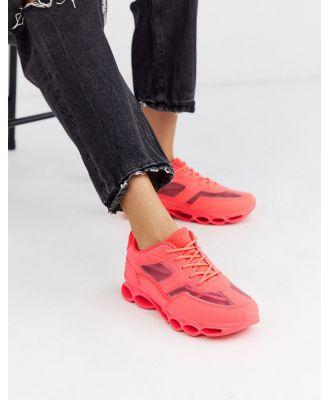ASOS DESIGN Detroit bubble sole sneakers in neon pink
