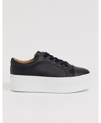 ASOS DESIGN Drama chunky lace up sneakers in black