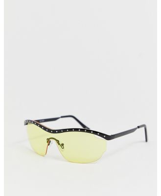 ASOS DESIGN embellished visor sunglasses-Multi