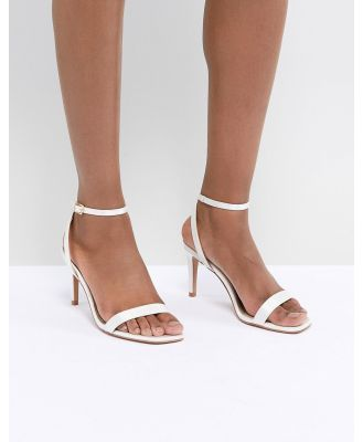 ASOS DESIGN Half Time Bridal Barely There Heeled Sandals - Cream