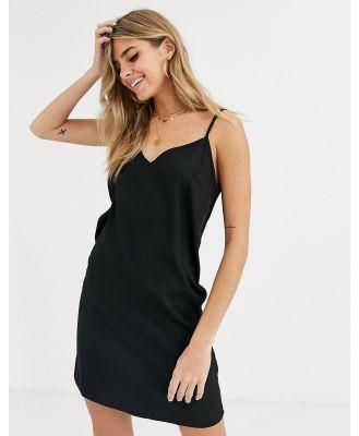 ASOS DESIGN mini cami slip dress in black
