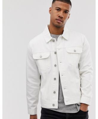 ASOS DESIGN oversized denim jacket in white