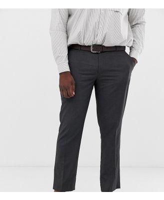 ASOS DESIGN Plus slim smart pants in charcoal-Grey