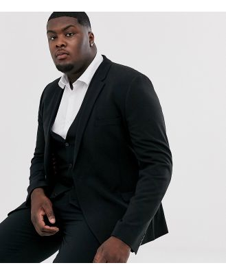 ASOS DESIGN Plus super skinny fit suit jacket in black