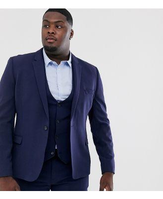 ASOS DESIGN Plus super skinny fit suit jacket in navy