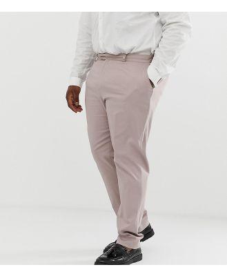 ASOS DESIGN Plus wedding skinny stretch cotton suit pant in mink-Neutral