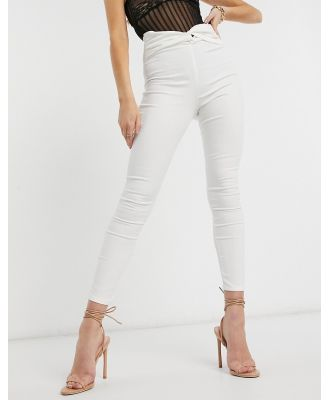 ASOS DESIGN Rivington with knot front belt detail in white