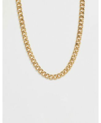 ASOS DESIGN short chunky chain in gold tone