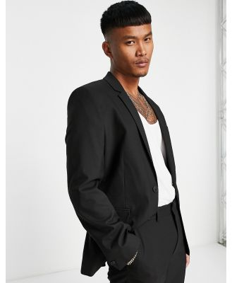 ASOS DESIGN skinny suit jacket in black
