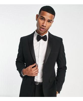 ASOS DESIGN super skinny tuxedo suit jacket in black