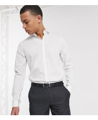 ASOS DESIGN Tall smart stretch slim fit work shirt in white