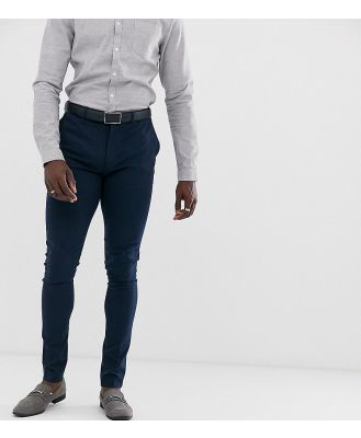 ASOS DESIGN Tall super skinny fit suit pants in navy