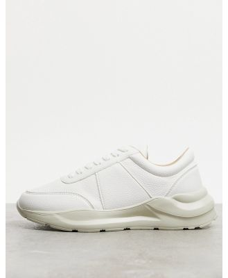 ASOS DESIGN trainers in white with texture