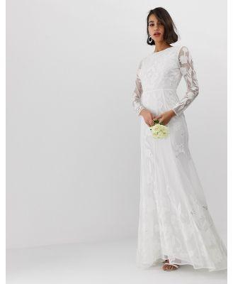 ASOS EDITION embellished applique wedding dress - White