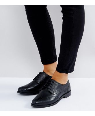 ASOS MOJITO Wide Fit Leather Brogues - Black