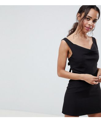 ASOS PETITE Cowl Neck Mini Dress - Black