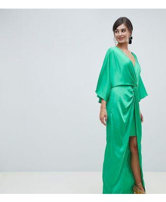 ASOS TALL Kimono Twist Front Maxi-Grey