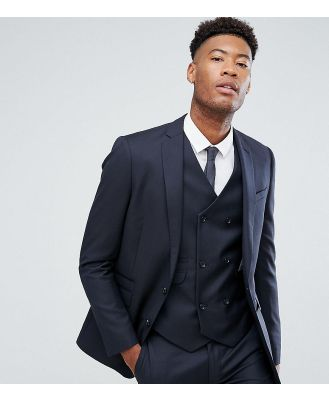 ASOS TALL Slim Suit Jacket In Navy 100% Wool