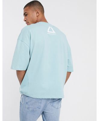 ASOS Unrvlld Supply oversized T-shirt with side taping and hem drawstring-Green