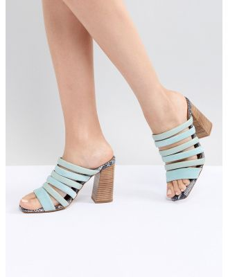 ASOS WHITE Aster Leather Heeled Sandals-Multi
