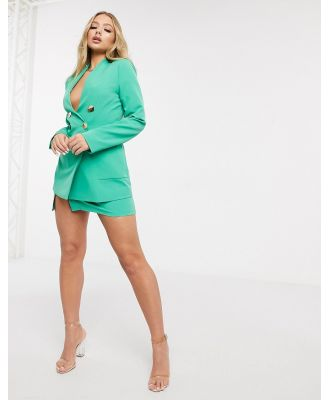 4th + Reckless tailored mini a-line skirt in green
