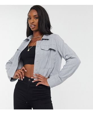 4th & Reckless Tall cropped utility jacket in grey