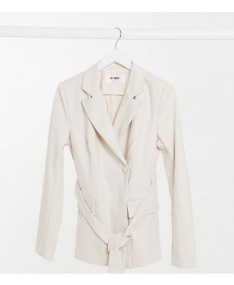 4th & Reckless Tall oversized wool blazer in cream