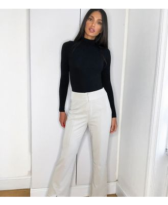 4th + Reckless Tall tailored pants in stone-Cream