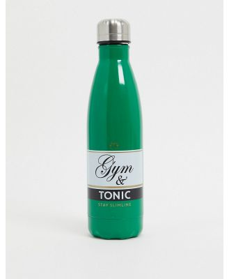 Menkind gym and tonic water bottle-Green