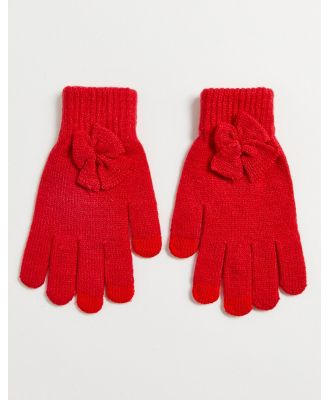 SVNX red gloves with bow