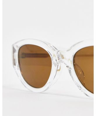 A.Kjaerbede round retro sunglasses in crystal-Clear