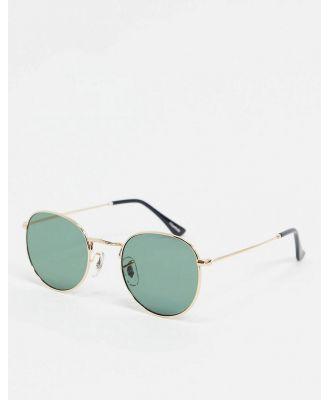 A.Kjaerbede round sunglasses in gold