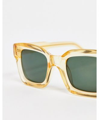 A.Kjaerbede square sunglasses in yellow with concave lens-Brown
