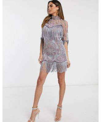 A Star Is Born embellished high neck mini dress-Multi